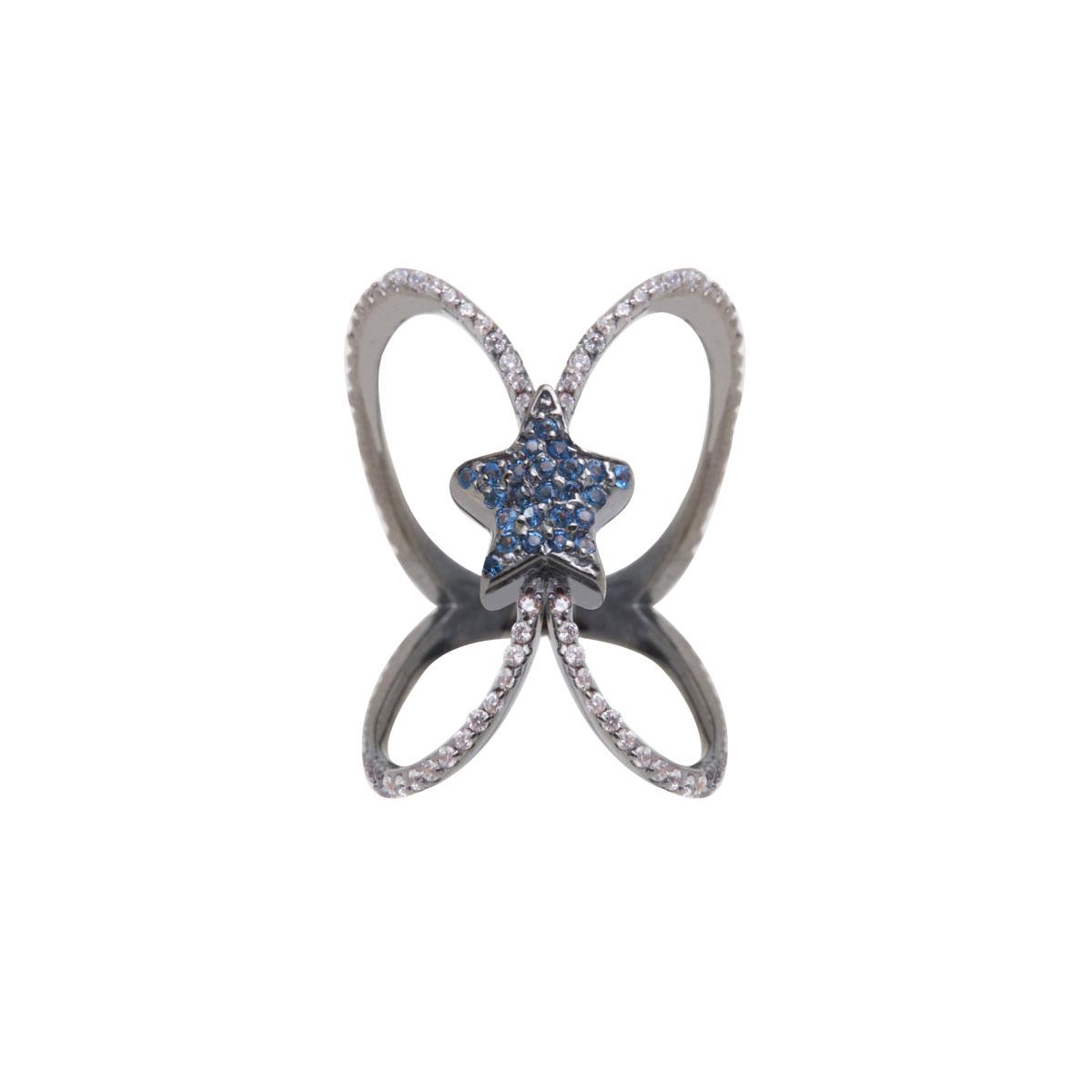 پرسته انگشتر طلا Blue star