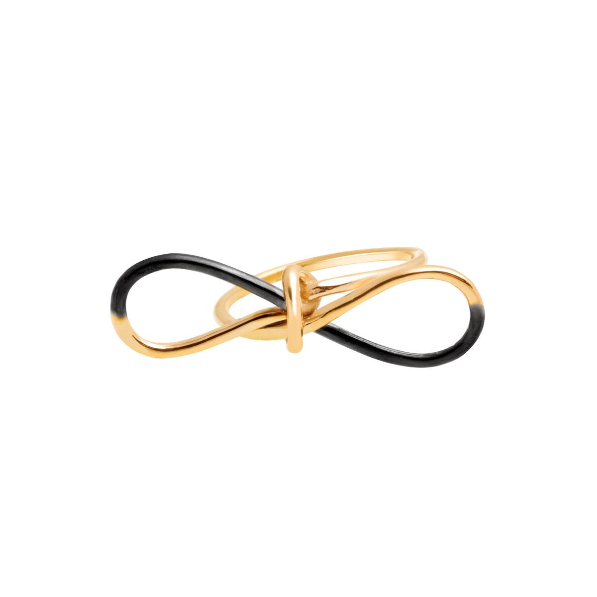 انگشتر طلا پاپیون دو رنگ