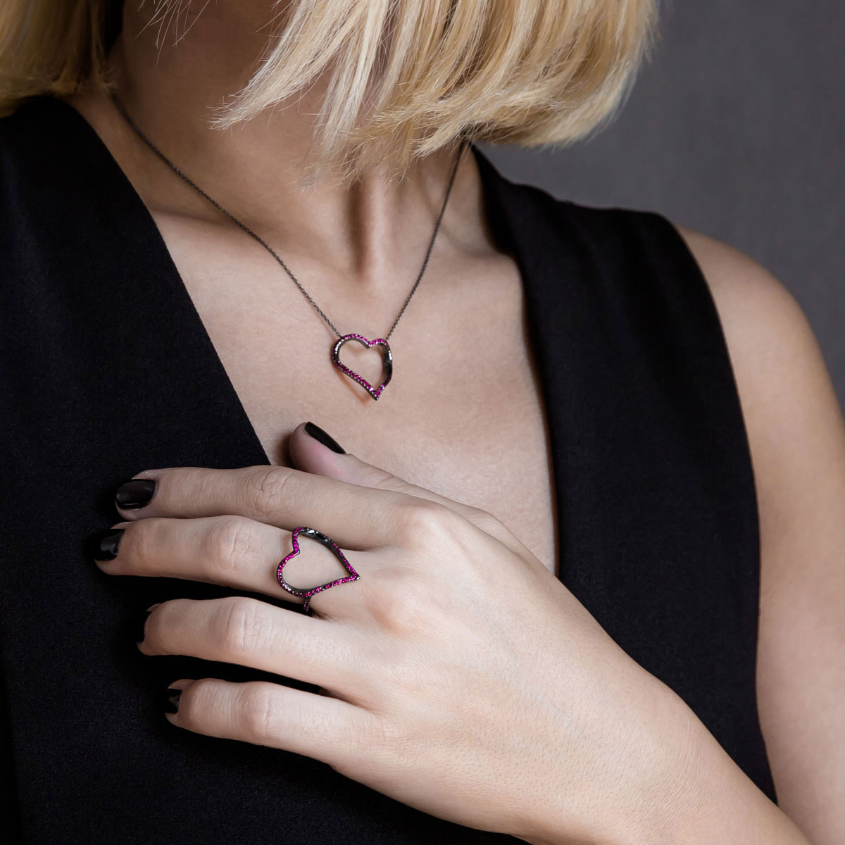 انگشتر طلا Black heart ۲