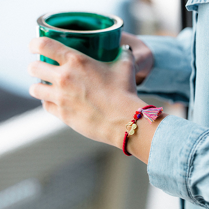 دستبند طلا گیلاس