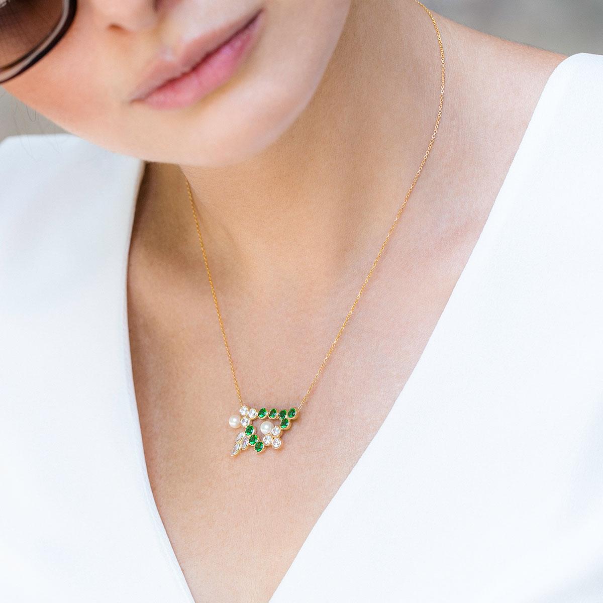 پرسته گردنبند طلا jasmine