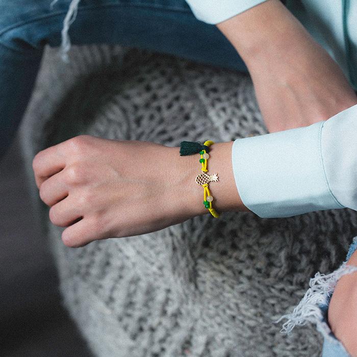 دستبند طلا آناناس 2
