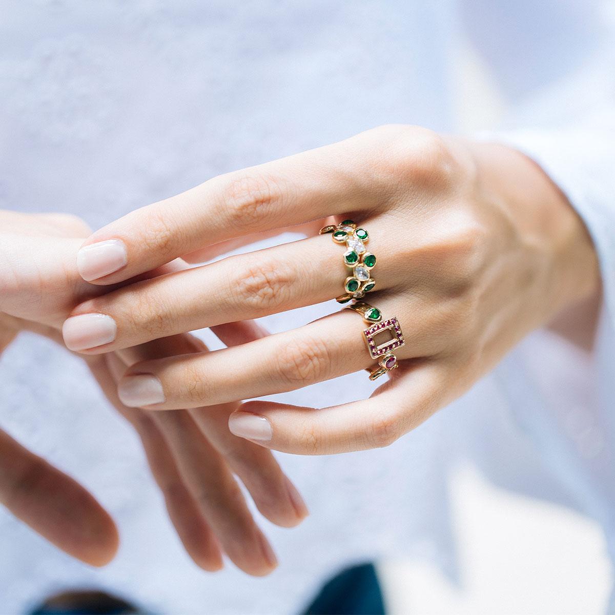 پرسته انگشتر طلا Jasmine