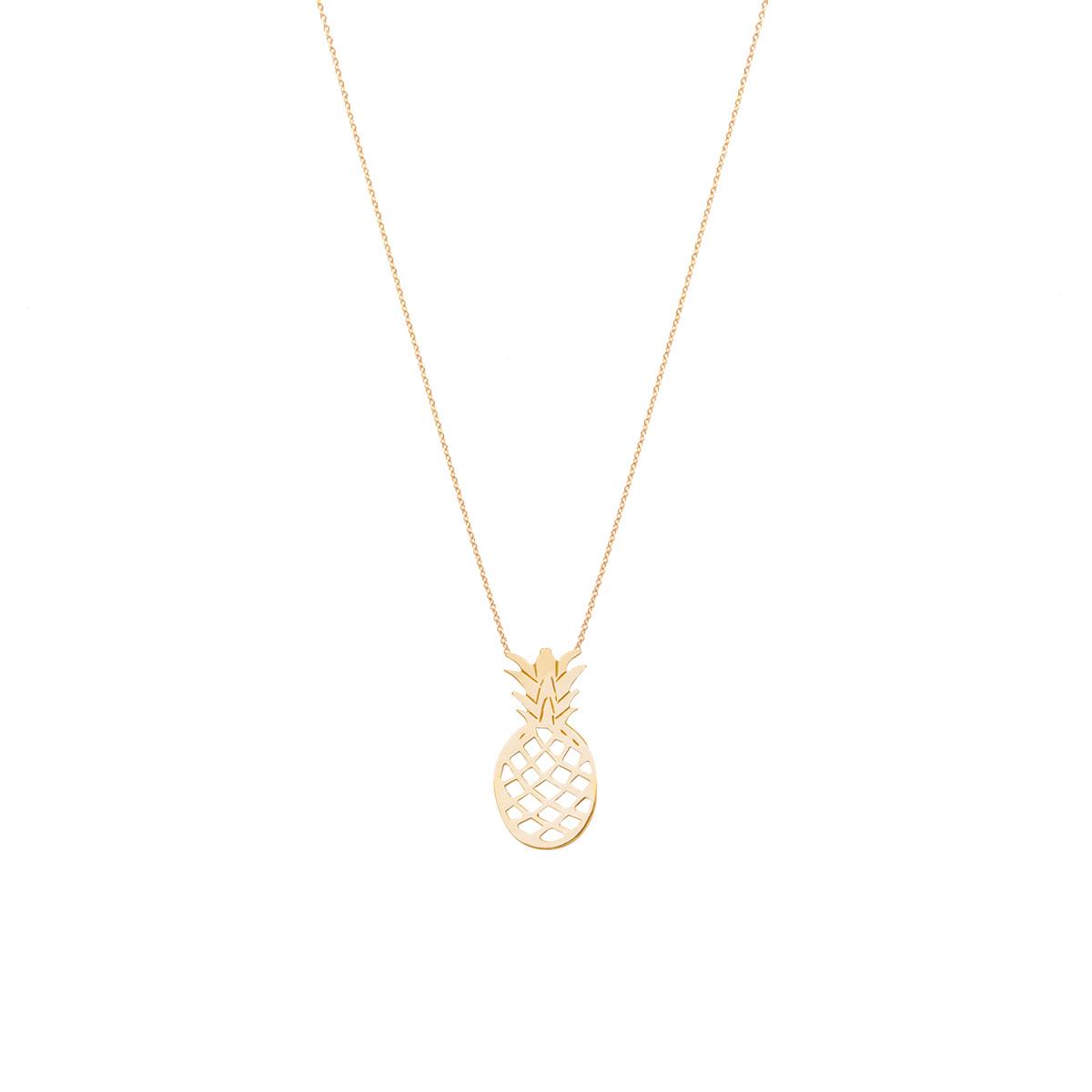 پرسته گردنبند طلا آناناس