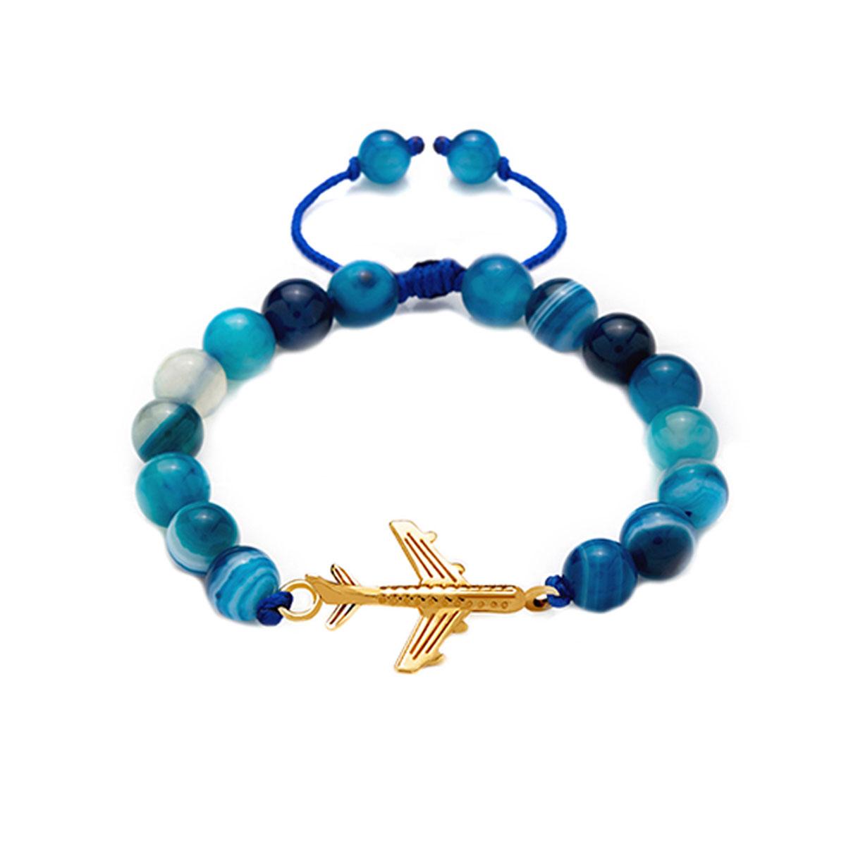 دستبند طلا پسرانه هواپیما