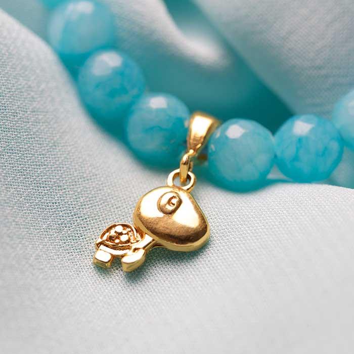 دستبند طلا پسرانه لاک پشت ۲