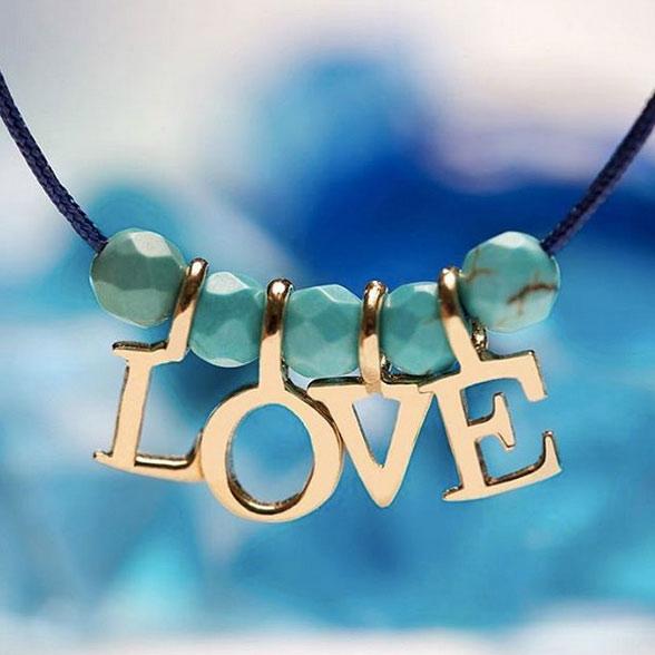 دستبند طلا پسرانه 'love'