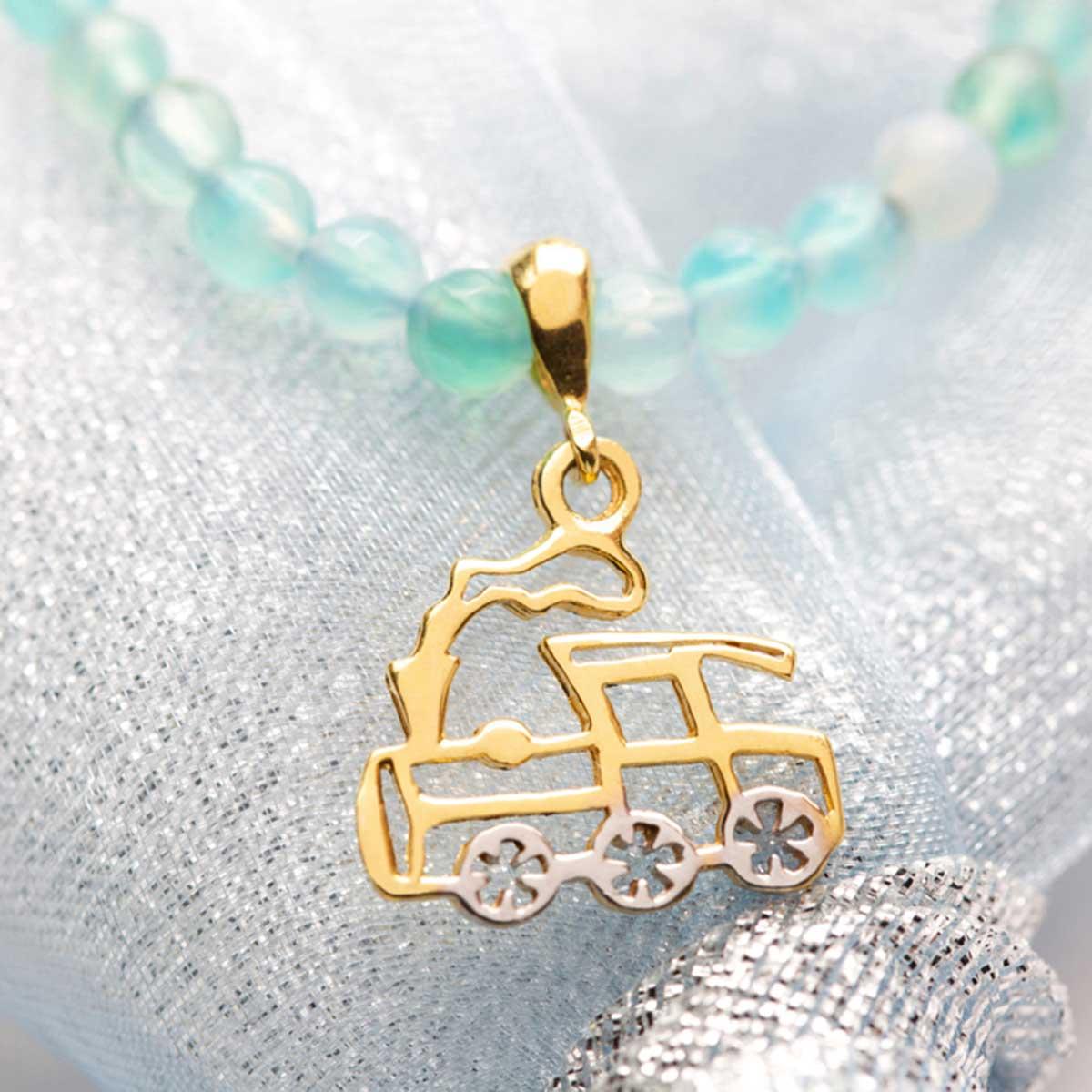 دستبند طلا پسرانه قطار ۲