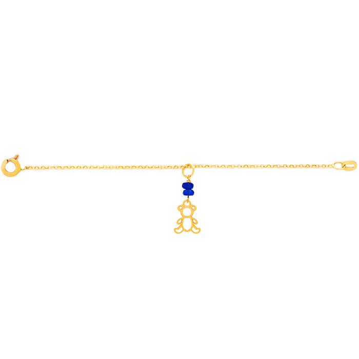 دستبند طلا پسرانه خرس