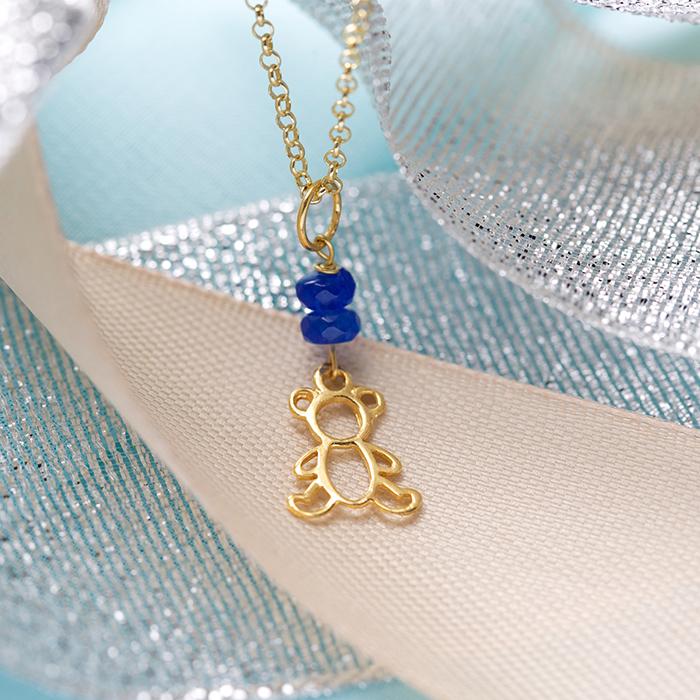 دستبند طلا پسرانه خرس 2