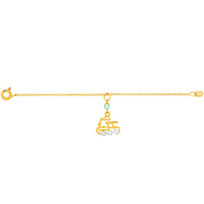 دستبند طلا پسرانه قطار