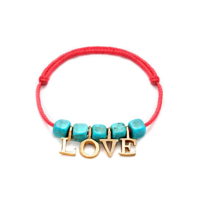 دستبند طلا دخترانه Love