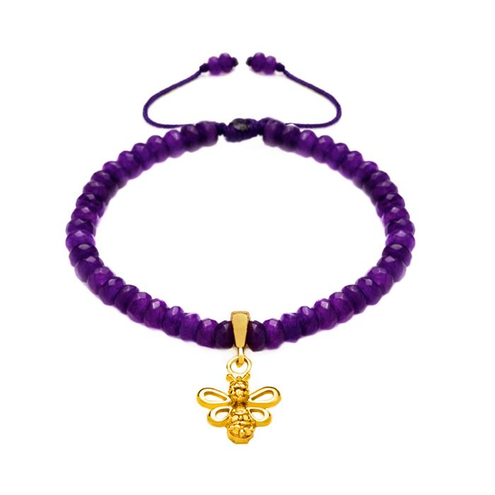 دستبند طلا دخترانه زنبور