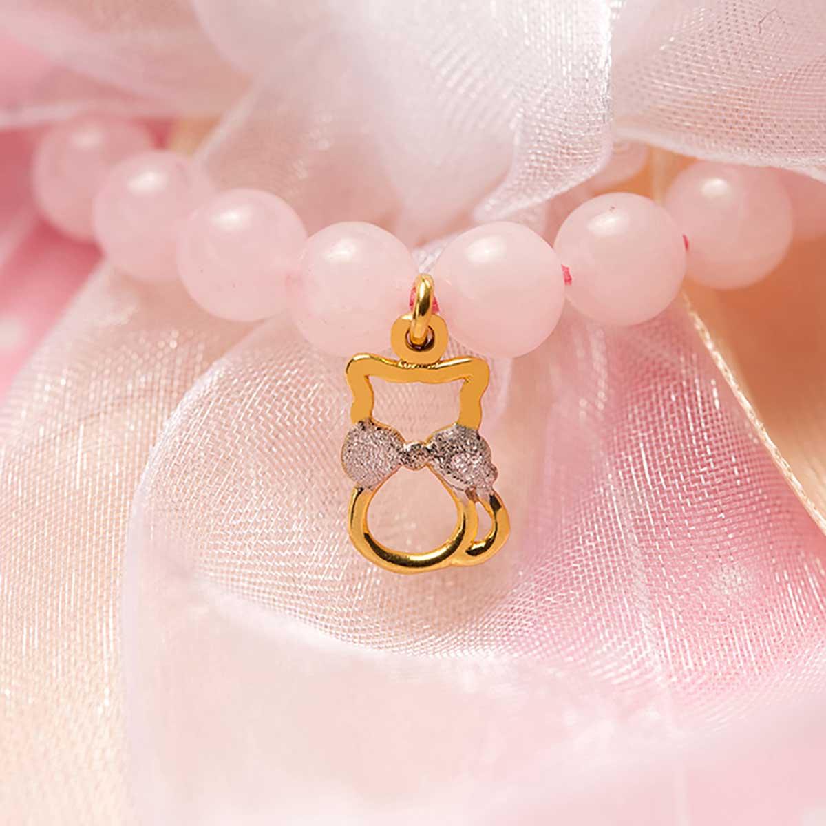 دستبند طلا دخترانه کیتی ۲