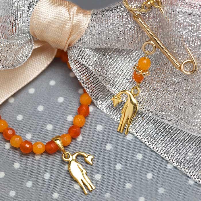 دستبند طلا زرافه