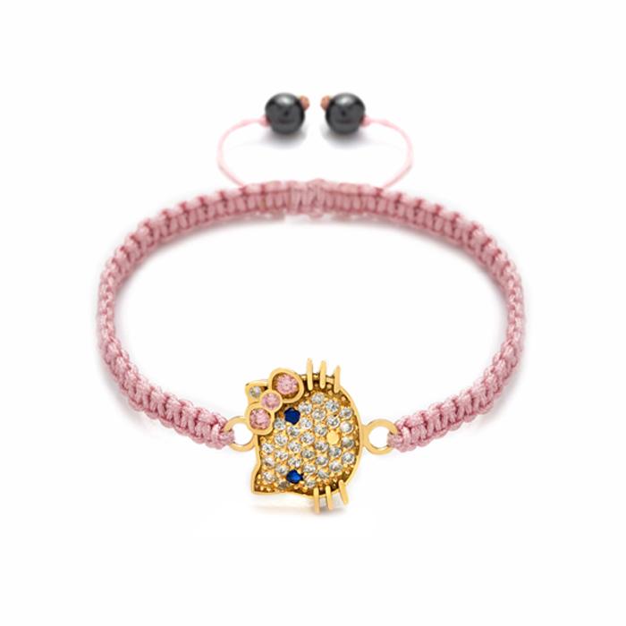 دستبند طلا دخترانه Hello Kitty