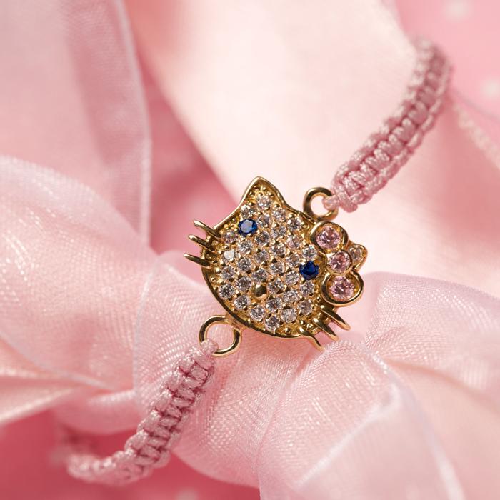 دستبند طلا دخترانه هلوکیتی