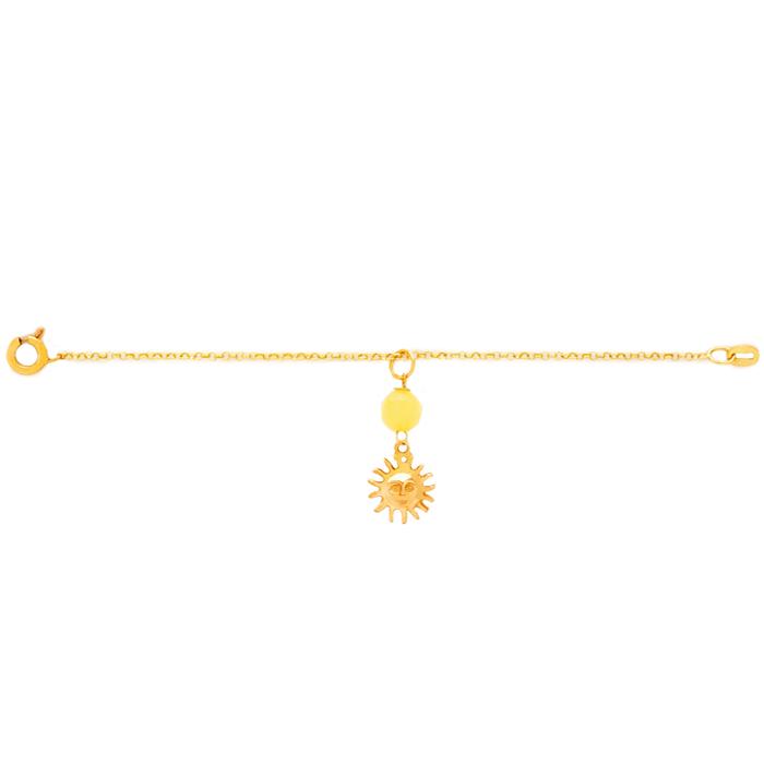 دستبند طلا دخترانه خورشید