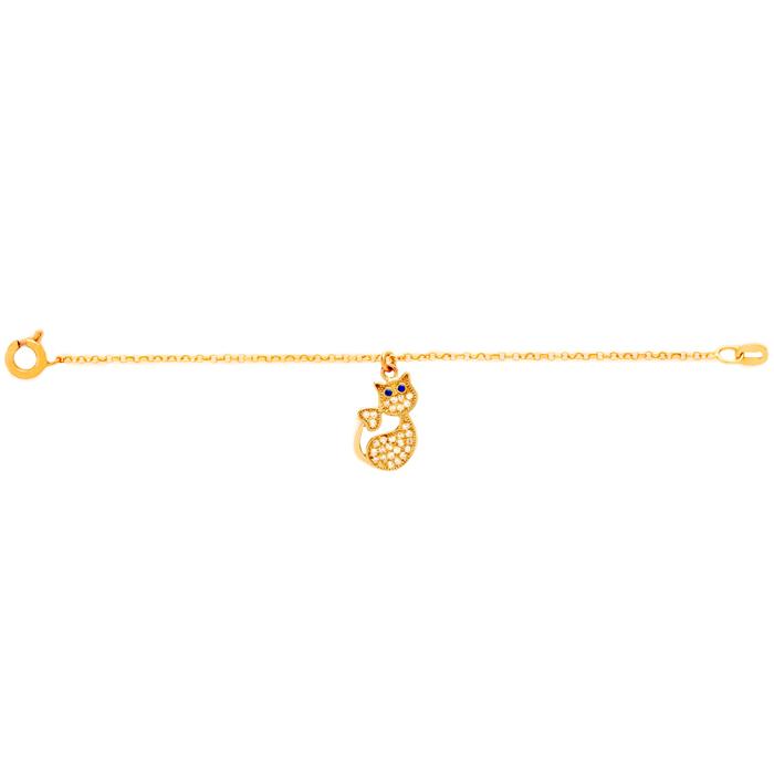 دستبند طلا دخترانه گربه