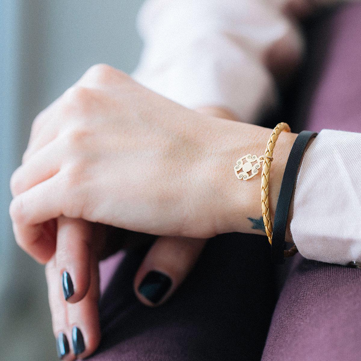 دستبند طلا اسلیمی ۲