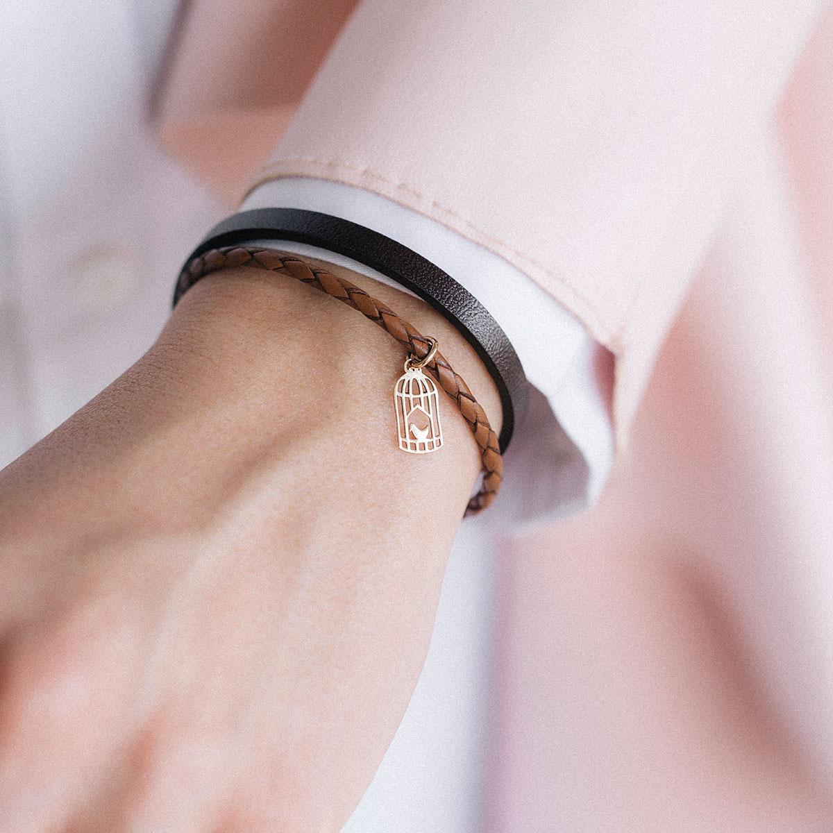 دستبند طلا قفس ۲