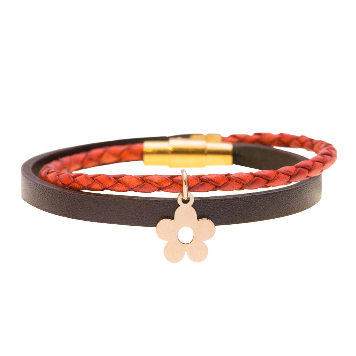 دستبند طلا گل