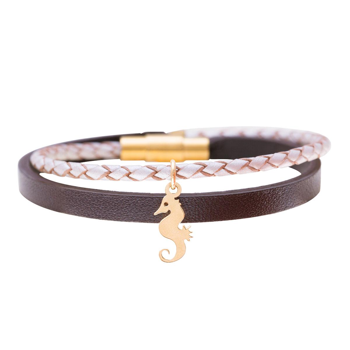 دستبند طلا اسب دریایی
