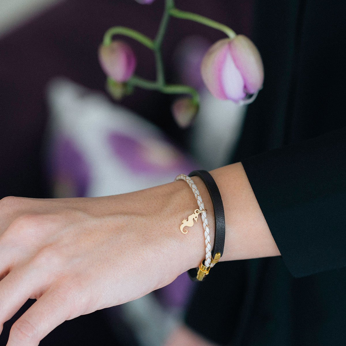 دستبند طلا اسب دریایی ۲