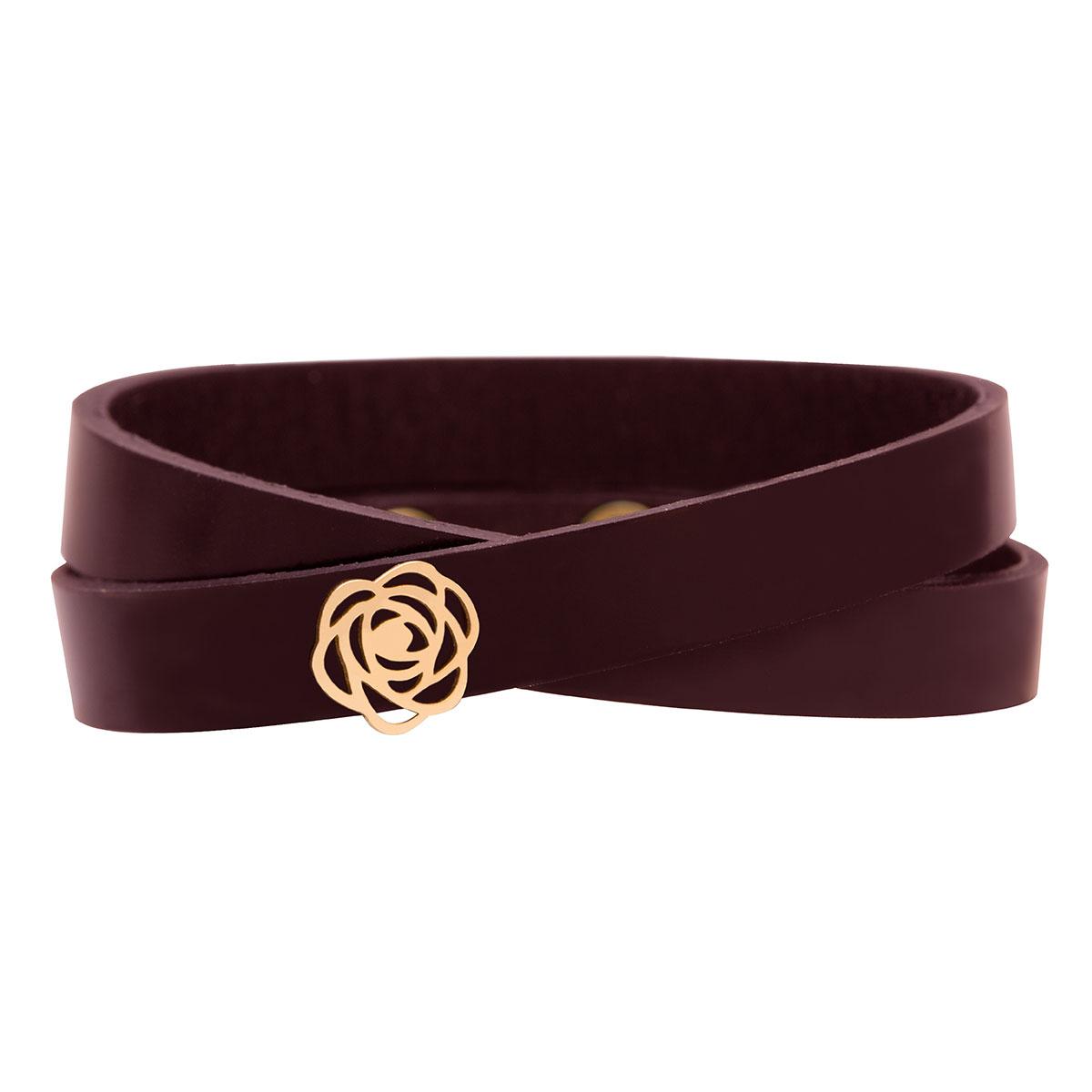 دستبند طلا گل رز