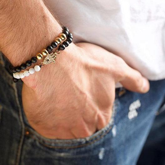 دستبند طلا چهار گوی