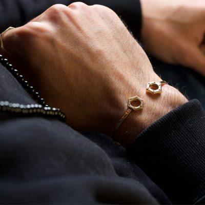 دستبند طلا مهره