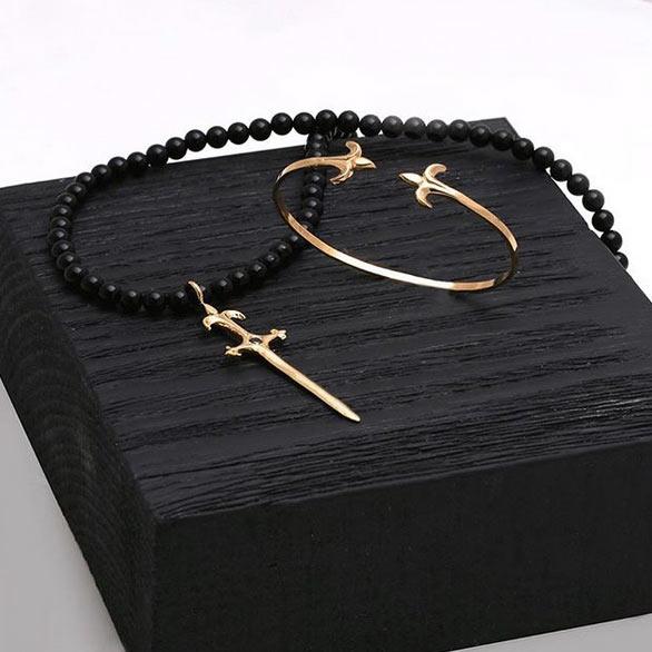 دستبند طلا خنجر کوچک
