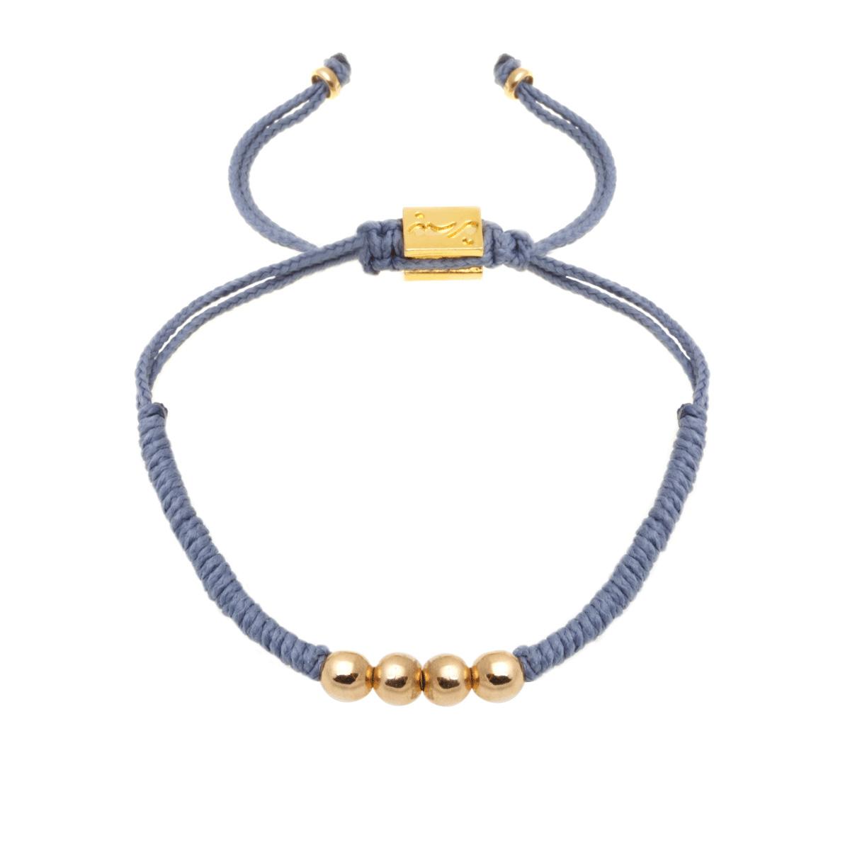 دستبند طلا بافت طوسی چهار گوی