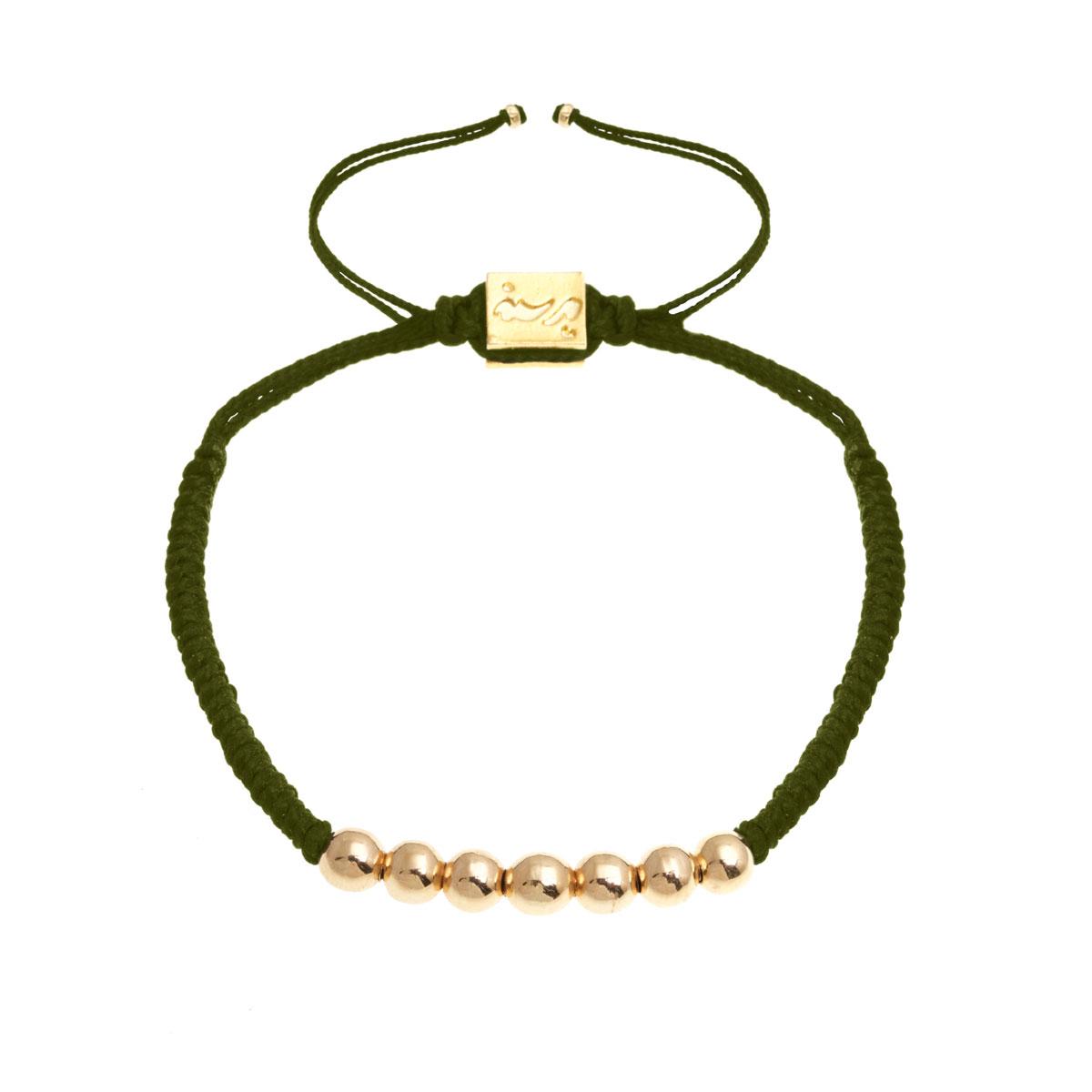 دستبند طلا بافت زیتونی هفت گوی