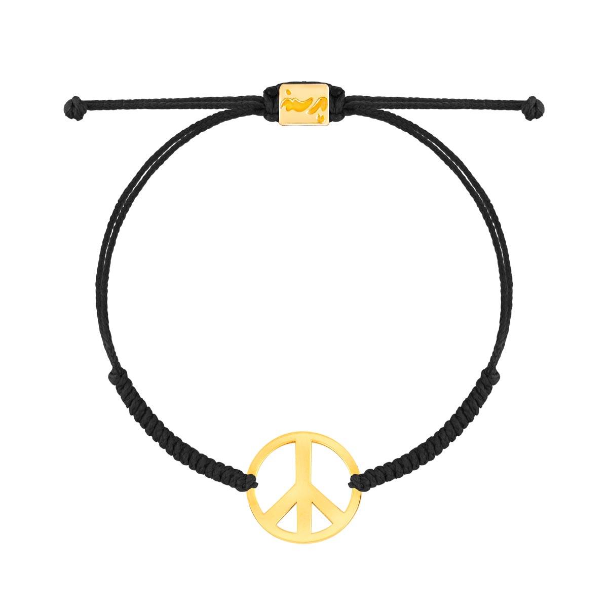 دستبند طلا بافت نماد صلح