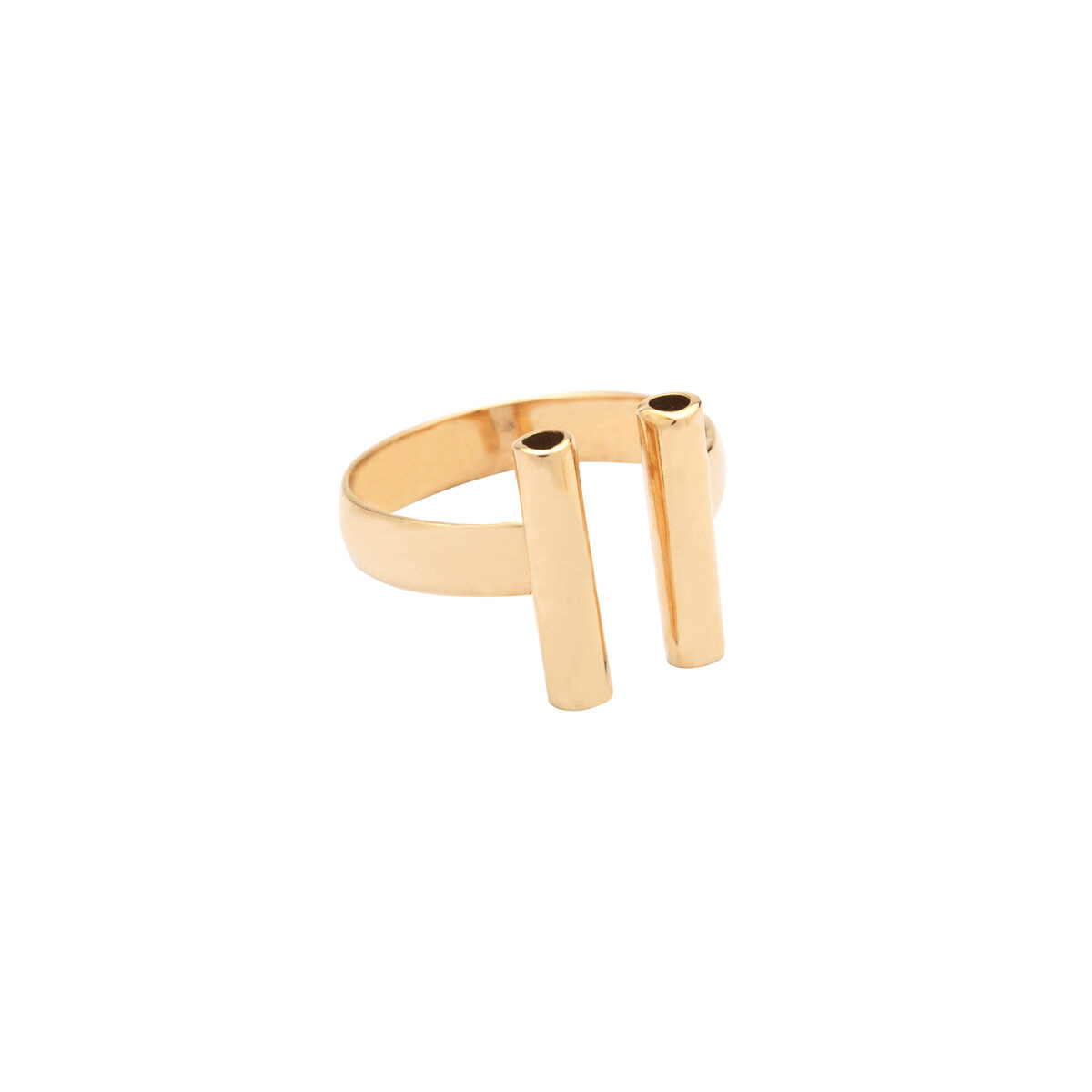 انگشتر طلا دو استوانه 2