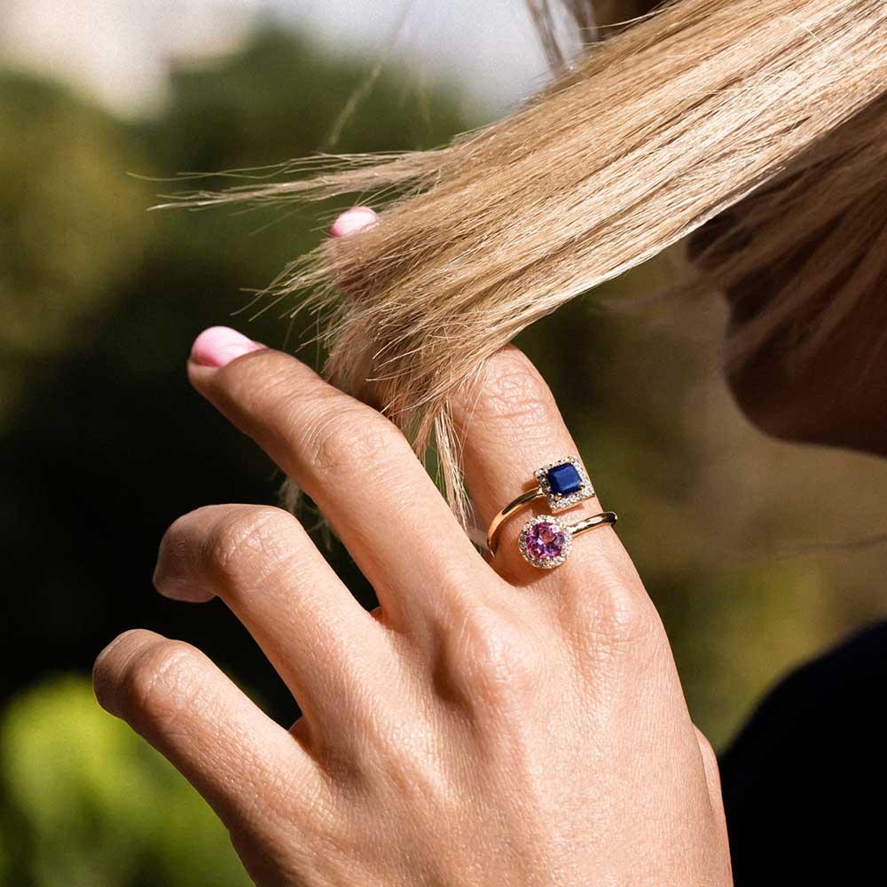 انگشتر طلا پلاریس