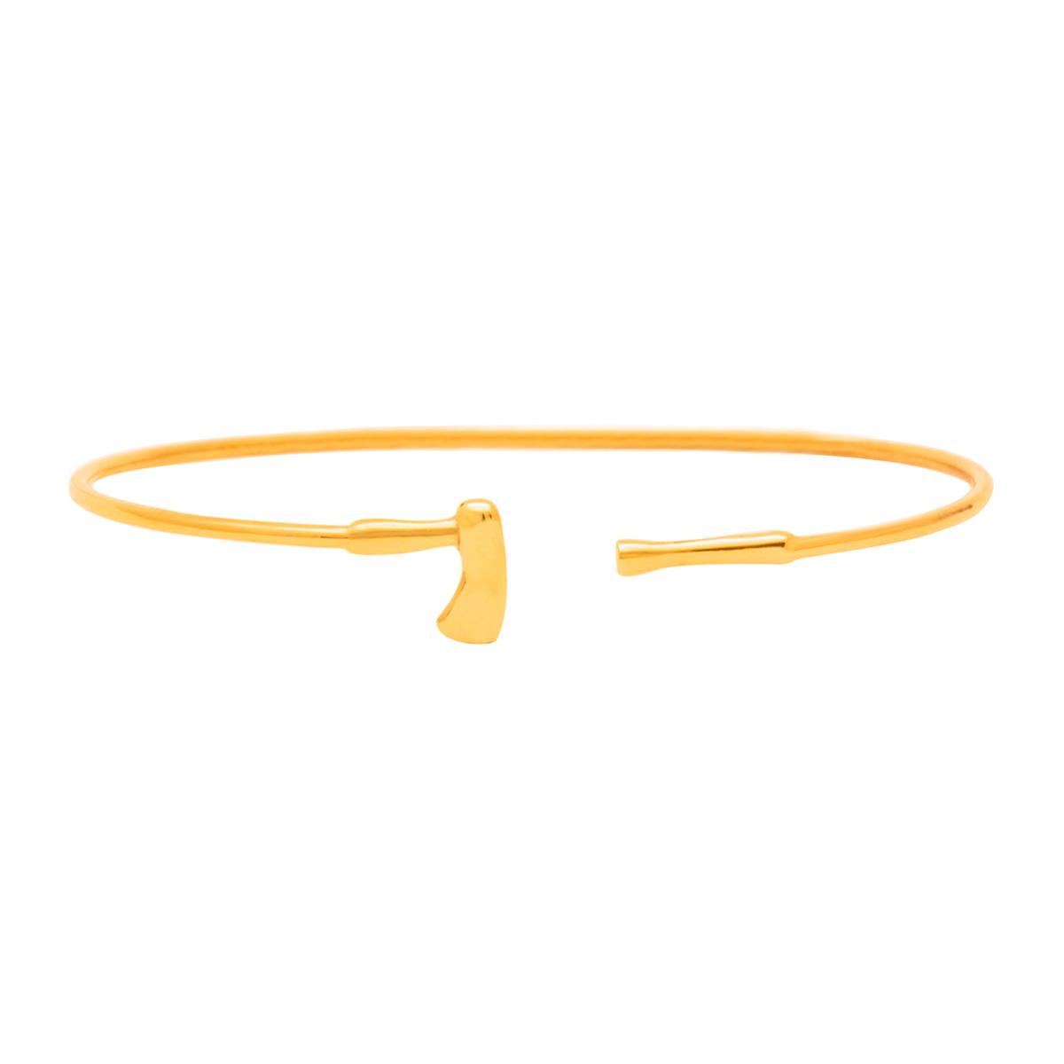 دستبند طلا تبر