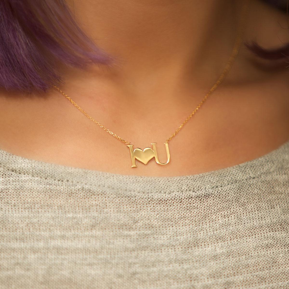 گردنبند طلا I Love You