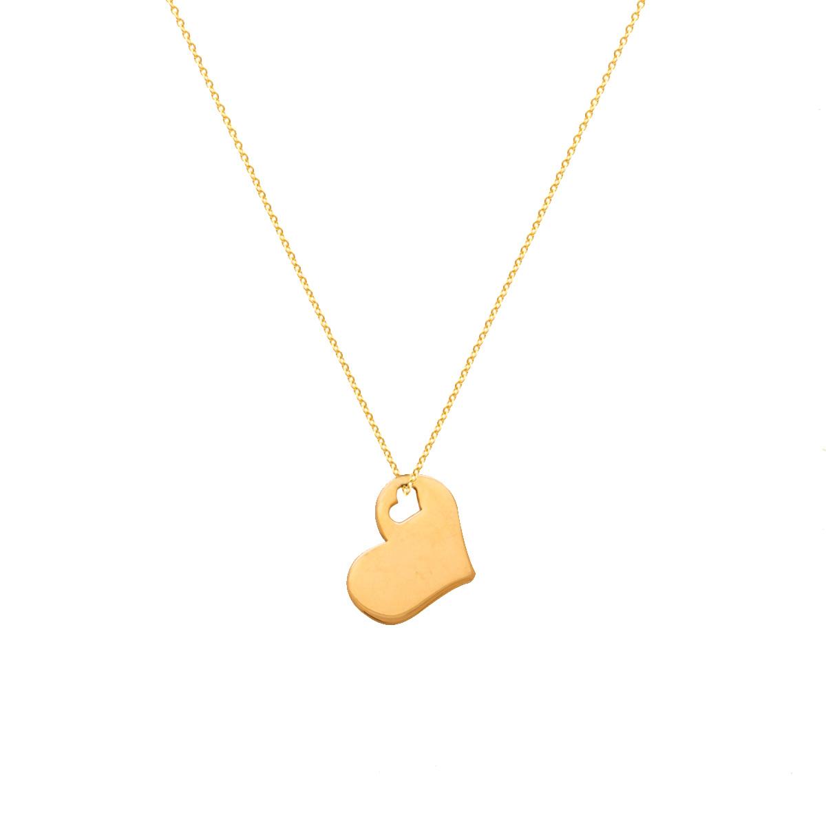 پرسته گردنبند طلا heart