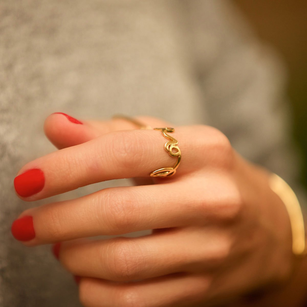 انگشتر طلا Love ۲
