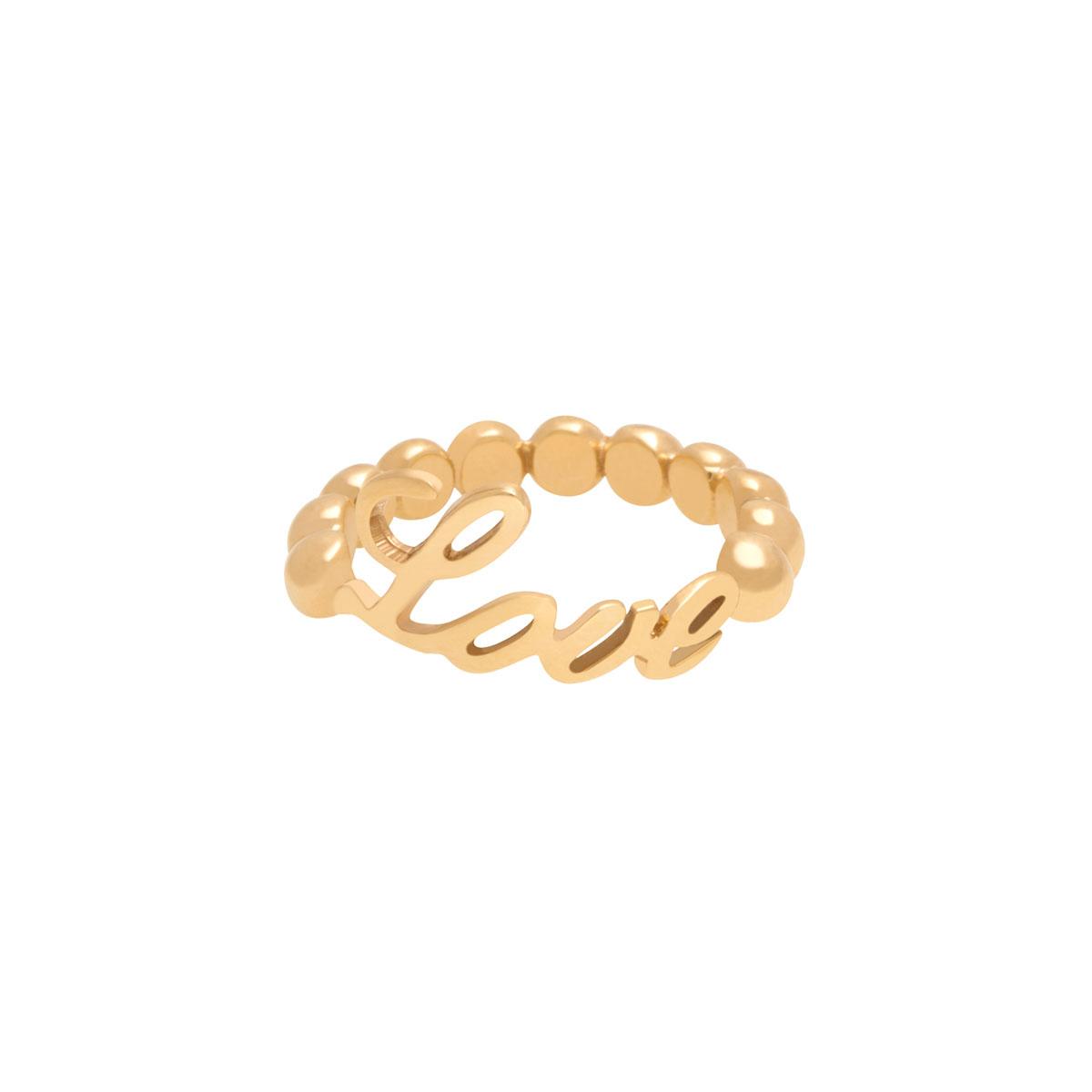 پرسته انگشتر طلا Love توپ توپی