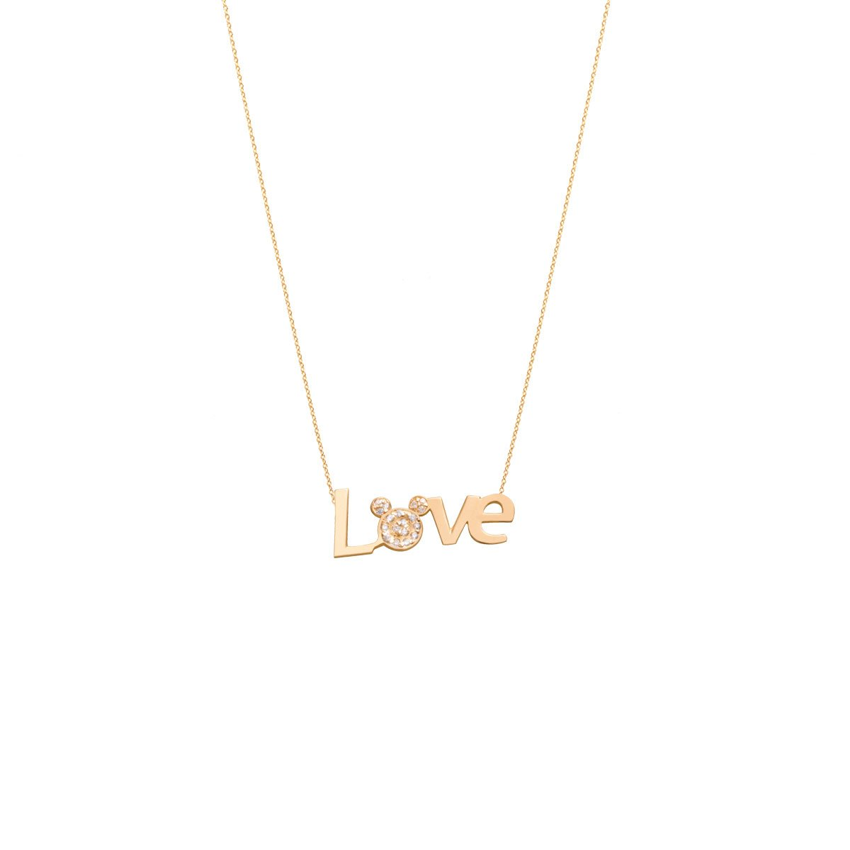 گردنبند طلا Love & Mickey