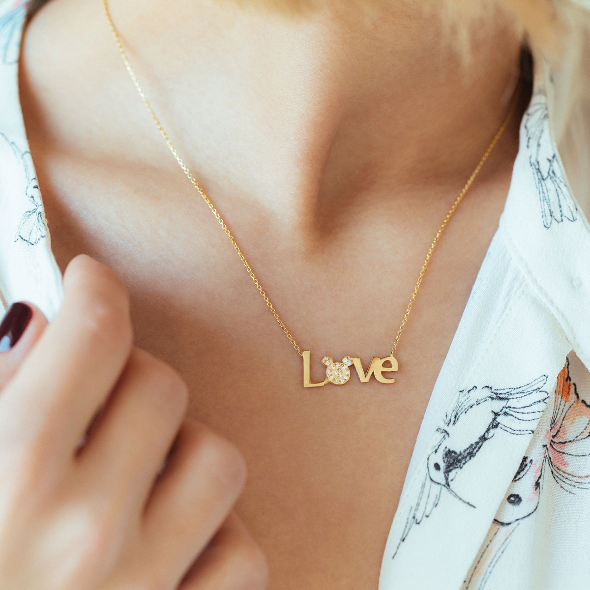 پرسته گردنبند طلا Love & Mickey