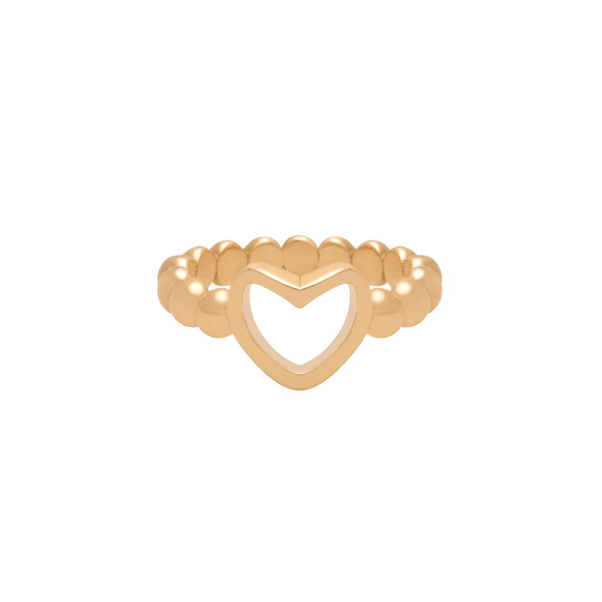 پرسته انگشتر طلا قلب توپ توپی