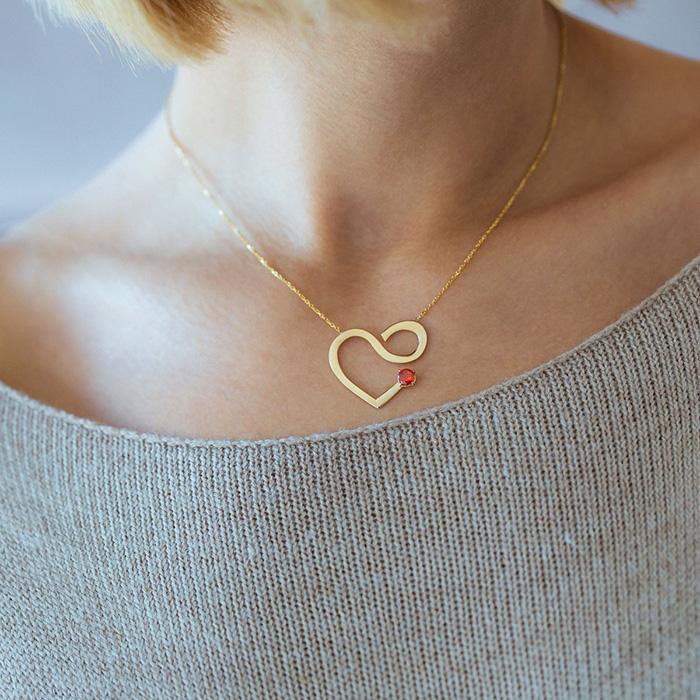 پرسته گردنبند طلا Valentine 2