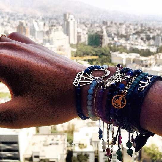 دستبند طلا الماس