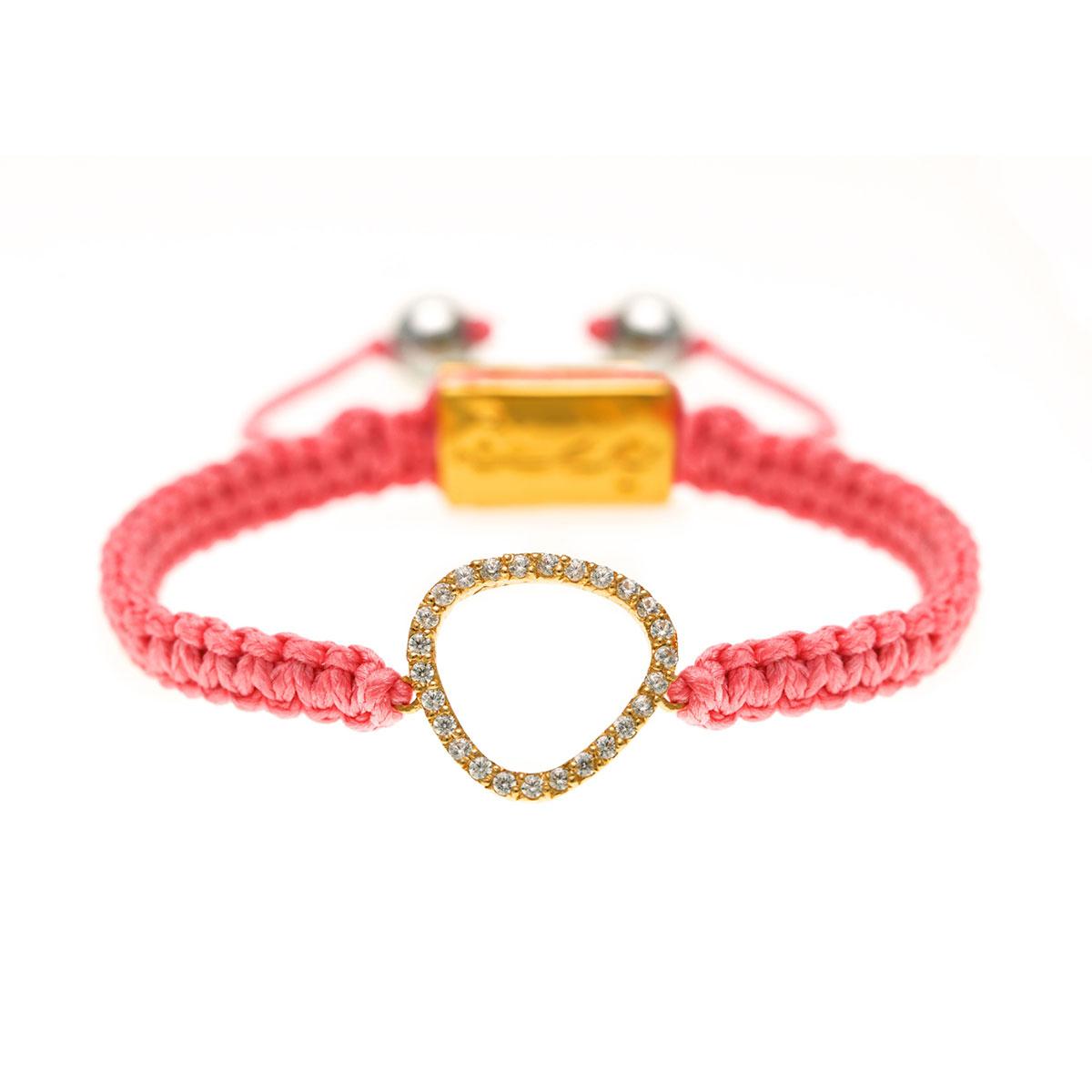 دستبند طلا مثلث دور نگین