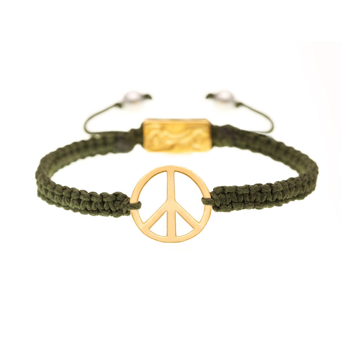 دستبند طلا 'Peace' کوچک