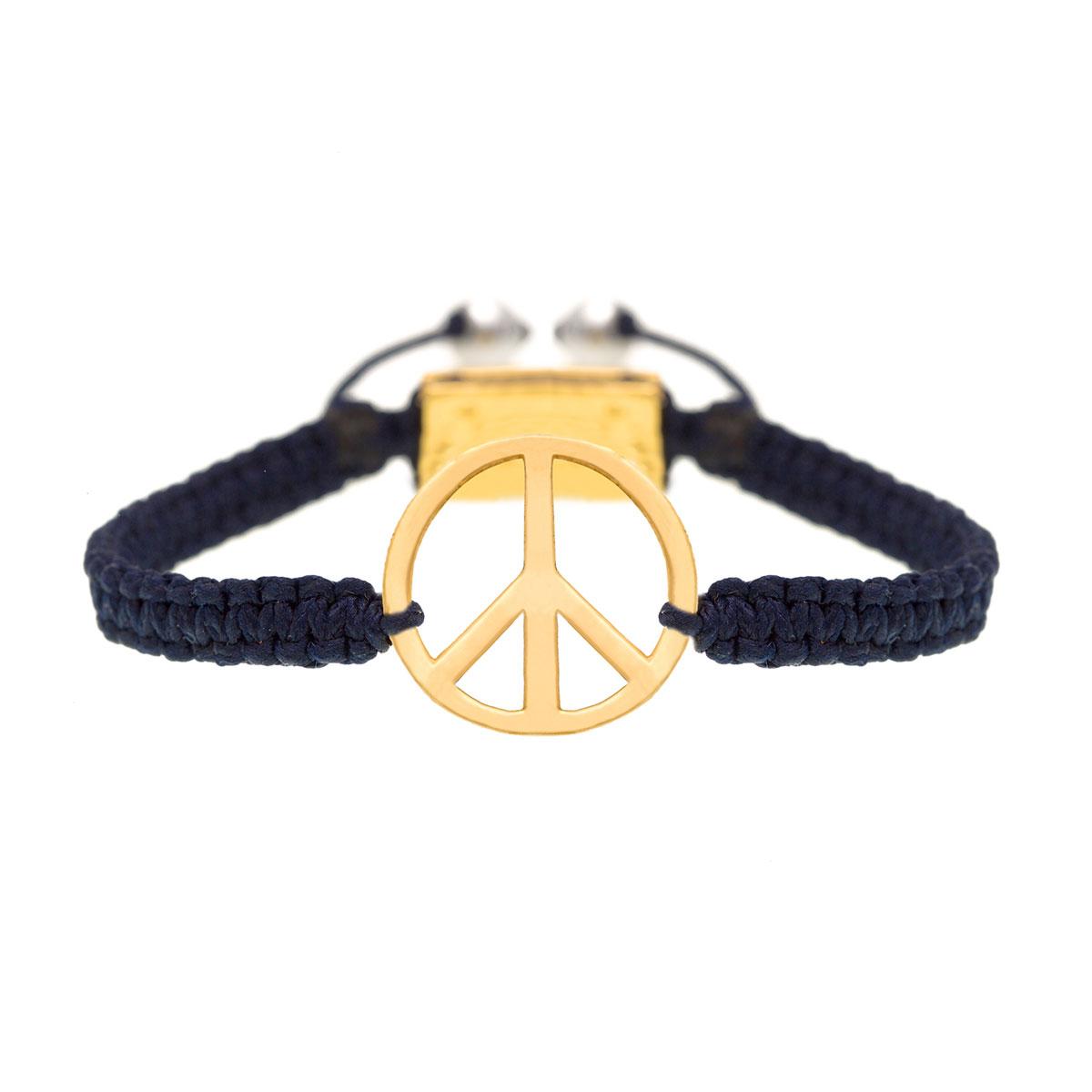دستبند طلا 'Peace' (بزرگ)